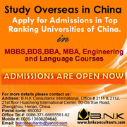Study in China,  How to study in China,  Scholarships in China,  MBBS,  BD