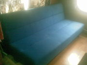 sofa bed dark blue folds 2 double bed