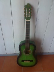 Green Accoustic Guitar