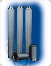 Cylinder filter element for support net and outer protective cover