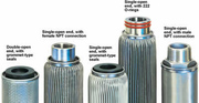 Stainless steel filter cartridge as oil filters or air filters
