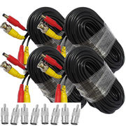 4pcs 60ft 18M BNC Video Power Siamese Cable for CCTV Surveillance