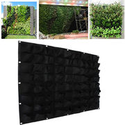 72 Pockets outdoor Vertical Greening Hanging Wall Garden Plant Bags