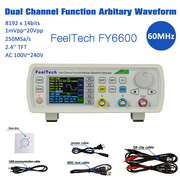 The device uses professional 14 bit high speed D/A chip, 250MSa/s samp