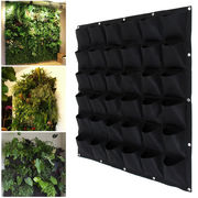 36 Pocket outdoor Vertical Greening Hanging Wall Garden Plant Bags Wal